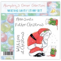 Meeting Santa Humphrey's Corner Christmas Stamp Set