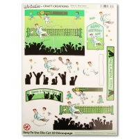 Mens Tennis Die Cut Decoupage Sheet DCD513