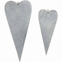 Metal Hearts Pack of 6 59357