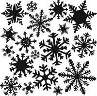Mini Flurries Snowflake Stencil TCW164s
