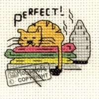 Perfect (warm ironing) Biscuit The Cat Cross Stitch Kit
