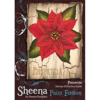 Poinsettia Set Paint Fusion Unmounted Rubber Stamps by Sheena Douglas