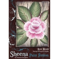 Rose Bloom Paint Fusion Unmounted Rubber Stamp Set SD-SSPF-BLOOM