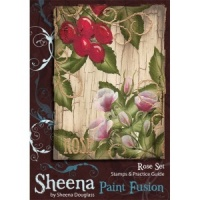 Rose Set Paint Fusion Unmounted Rubber Stamps by Sheena Douglas