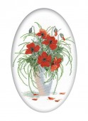 Scarlet Poppies Cross Stitch RTO R280
