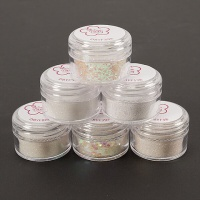 Sparkle Glitter Kit 6 Pots White