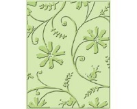 Stylized Flowers Cuttlebug Embossing Folder 37-1232