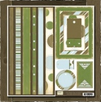 Taylor Collection - Bands, Tags & Frames Crate Paper T117