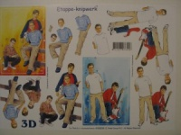 Teenage Boy A4 3D Decoupage Sheet