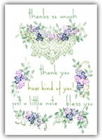 Thank You Floral Crochet Rubber Stamp Tapestry Set