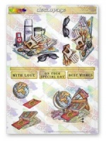 Travel Bug Decoupage Sheet La Pashe