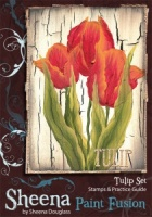 Tulip Set Unmounted Rubber Stamp Set Sheena Douglas