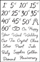Wedding Anniversary Clear Stamps Woodware FRCL107