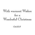With Warmest Wishes Christmas Stamp CHR202-F