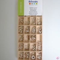 Wooden Alphabet 162 pieces Artemio 11006470