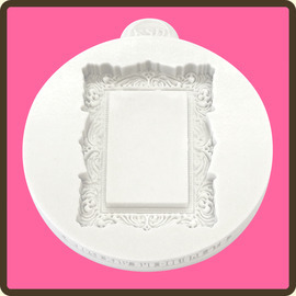 Vintage Rectangle Cupcake Topper Embellishment Mould