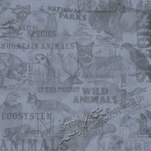 Wildlife Collage 12'' x 12'' Scrapbooking Paper by Karen Foster Design 60958