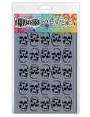 Dylusions Skulls Small Stencil 5 x 8 in DYS45496