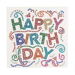 Happy BirthDay Crystal Card Kit