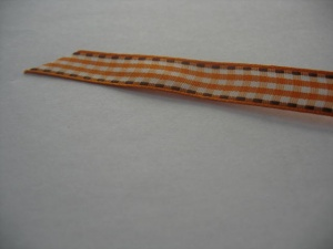 Orange Gingham Ribbon 10ml wide