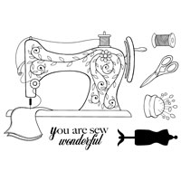 Sew Wonderful Clear Stamp Woodware JGS451