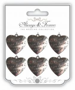 Amore Metal Silver Heart Charm Always & Forever Collection