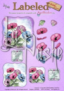 Anemone Labeled With Love A4 Sheet