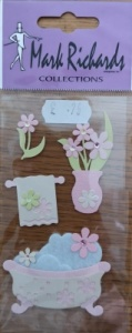 Bath & Flowers Embellishment Stickers Mark Richards 2332