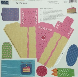 Birthday Cake Box Die Cut Sheet