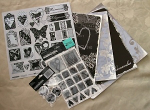 Black & White Kit - Creative Imaginations - Christine Adolph - SPECIAL OFFER
