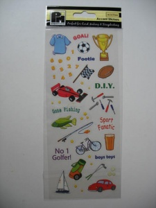 Boys Toys Papermania Accent Stickers