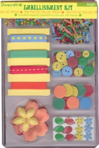 Bright Embellishment Kit - 186 Piece - Dovecraft