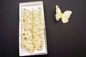 Butterflies Cream 10cm Wide Pack of 12