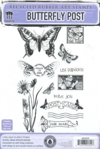 Butterfly Post Eco Green Crafts Stamp Set 04310
