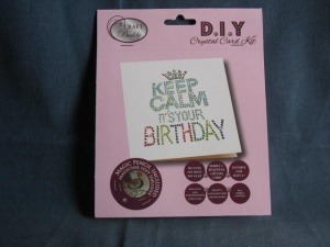 Calm Birthday Crystal Card Kit