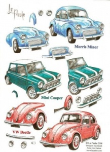 Cars Decoupage Sheet La Pashe