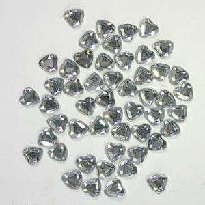 Clear Heart Crystal Gems  6mm Syntego BN3104 pack qty 100