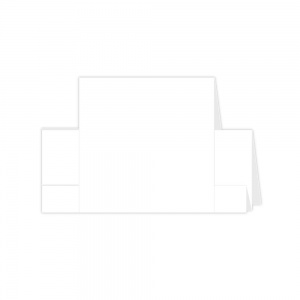 Diesire Die Cut Fancy Card Blanks Square Centre Step White