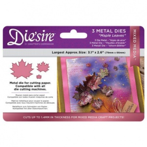 Die'sire Mixed Media Dies Maple Leaves
