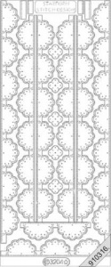 Embroidery Peel Off - Ornate Borders - Silver