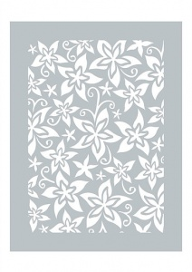 Exotic Meadows Stencil Dawn Bibby Collection DBST04
