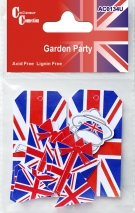 Garden Party Mixed Shapes Red, White and Blue 12pcs AC0134U