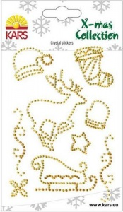 Gold Crystal Stickers X-mas Collection