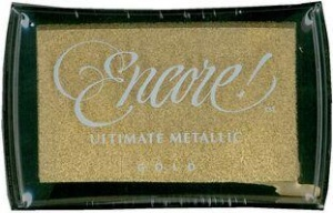 Gold Encore Ultimate Metallic Ink Pad Tsukineko UM-10