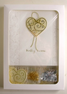 Gold Heart Wedding Invitation Kit Make It Yourself CK/INV/002