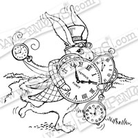 Hare In A Hurry Cling Stamp Stampendous CRW170