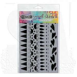 Heart Border Small Stencil Dylusions DYS47186