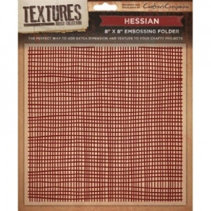 Hessian Embossing Folder 8''x 8''