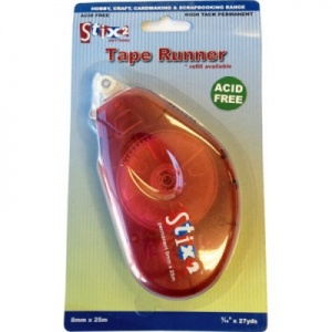 Stix 2 High Tack Permanent Tape Runner 8mm x 25m