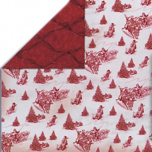 Homespun Holidays Toile Bo Bunny 12HHT467